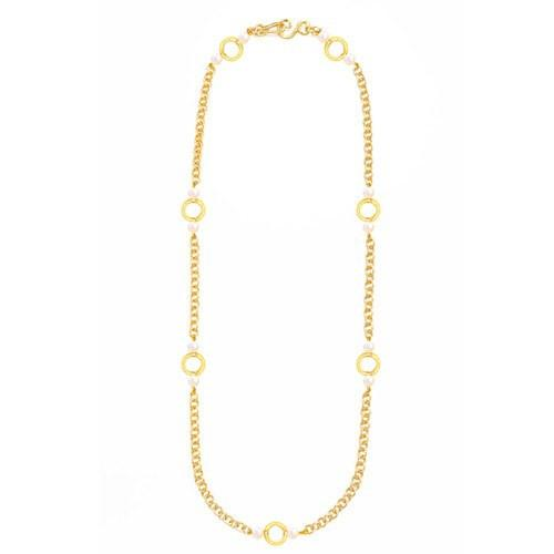 Infinity Gold Necklace - Pearl