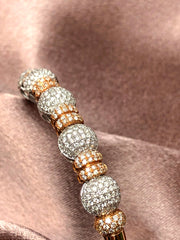 Roll With It 18K Diamond Pave Cuff