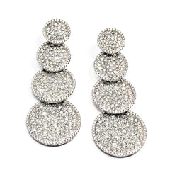 Elliptic 18K White Gold Earring