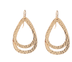 Paris Double DM and DS Earrings Gold
