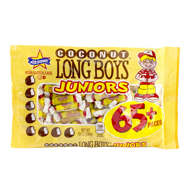 Long Boys® Jrs. Coconut Caramels - 12 oz Bag