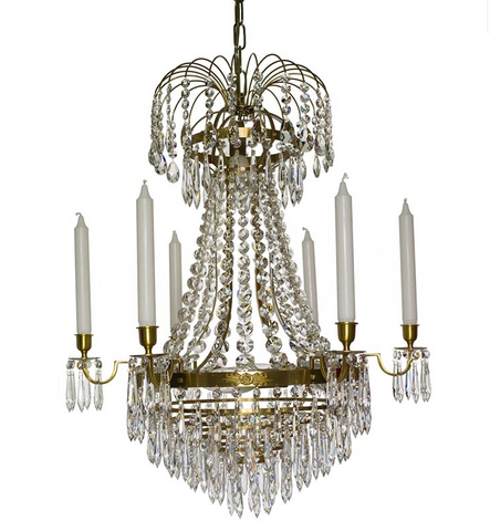 French crystal chandelier swedish chandelier scandinavian swedish crystal chandelier mozeypictures Choice Image