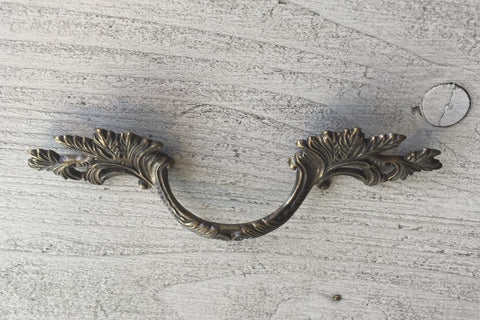 Antique French brass handle