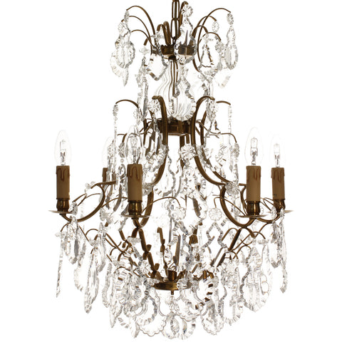 French crystal chandelier swedish chandelier scandinavian french crystal chandelier mozeypictures Choice Image