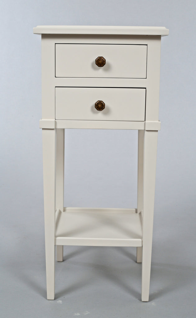 Narrow Bedside Table With Drawers Ellis Painted Interiors Inside Ideas Interiors design about Everything [magnanprojects.com]