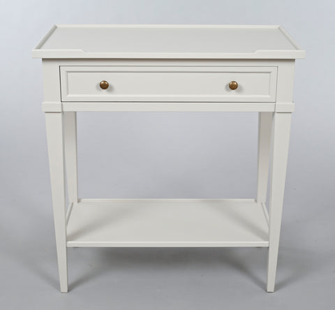 White Narrow Console Table