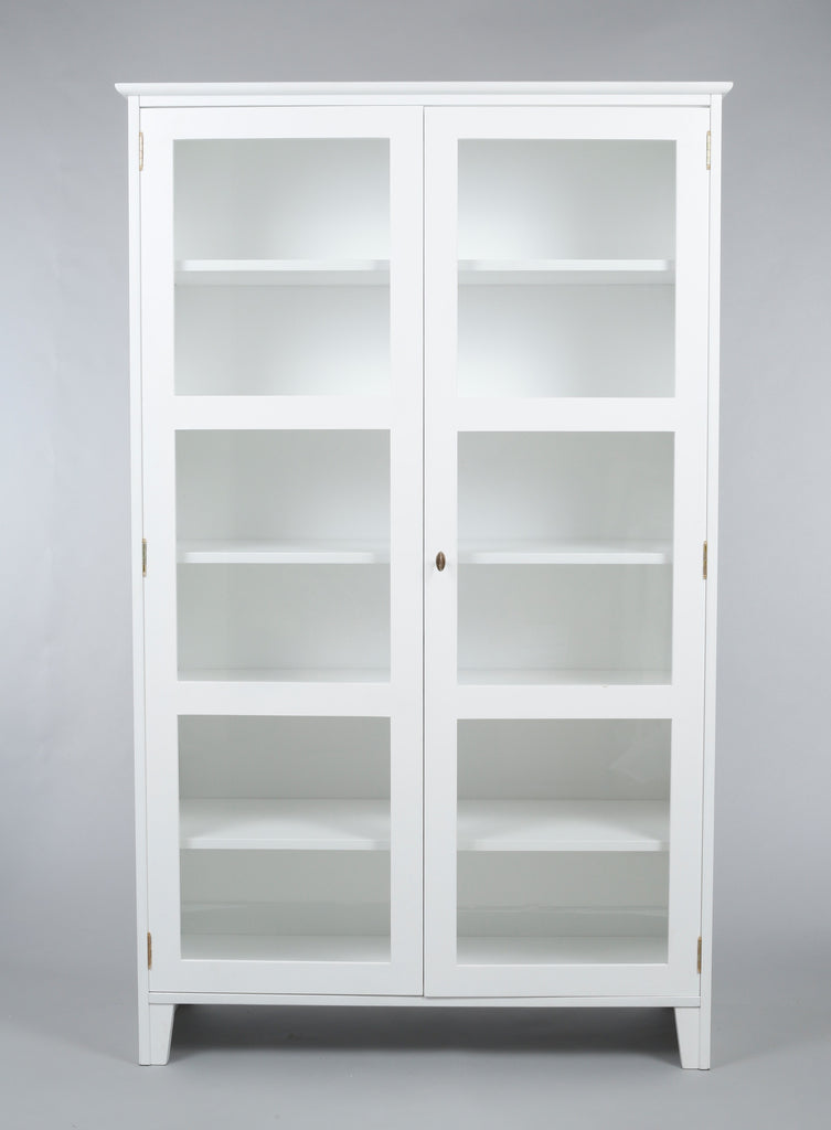 Scandinavian Glass Cabinet Glass Display Cabinet White