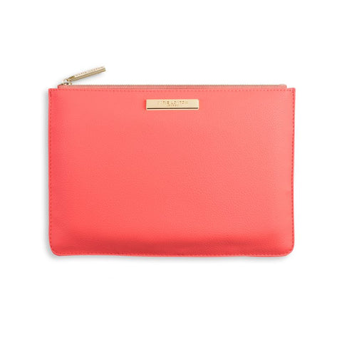 Katie Loxton Soft Pebble Perfect Pouch - Coral