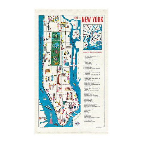 Tea Towel - New York Map - MeMe Antenna