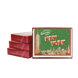 Holiday Greeting Card Set - New York - MeMe Antenna