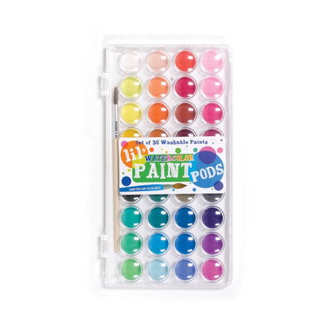 Watercolor: Paint Pods Set of 36 with Brush - MeMe Antenna