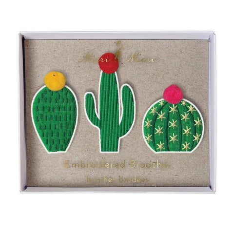 Embroidered Brooches Cacti - MeMe Antenna