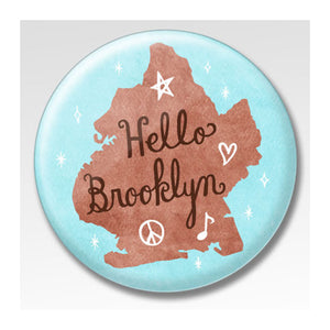 MeMe Antenna Magnet - Hello Brooklyn Sky Blue Round by Bite n' Kiss - MeMe Antenna