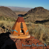 Incense Burner: Teepee with Pinon natural wood incense - MeMe Antenna