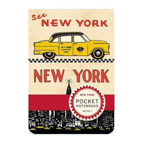 Pocket Noteboks: Vintage New York Set of 2 - MeMe Antenna