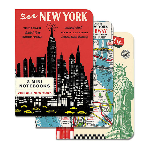 Mini Notebooks - Vintage New York Set of 3 - MeMe Antenna