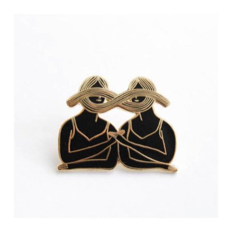 Enamel Pin : Kaye Blegvad - Eternal Sisterhood Gold & Black - MeMe Antenna