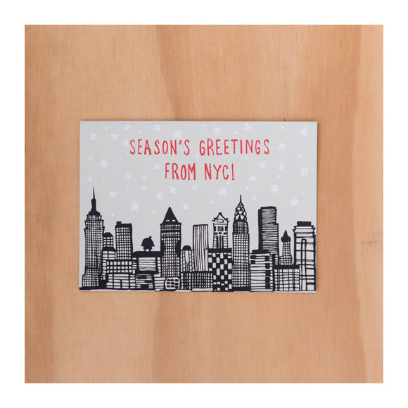 Holiday Greeting Card Set - NYC Holiday Skyline Boxed Set ( 6 ) - MeMe Antenna