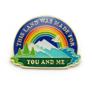 Enamel Pin : Lucky Horse Press - This Land Is Your Land - MeMe Antenna