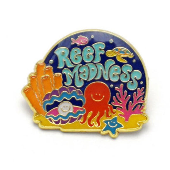 Enamel Pin : Lucky Horse Press - Reef Madness - MeMe Antenna