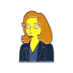 Enamel Pin : Felt Good Co. - The Springfield Files Dana Scully - MeMe Antenna