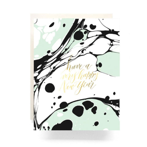 holiday greeting card set marble new year boxed set 6