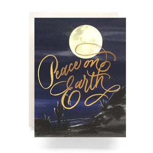 Holiday Greeting Card Set - Peace on Earth Moon Boxed Set (6) - MeMe Antenna
