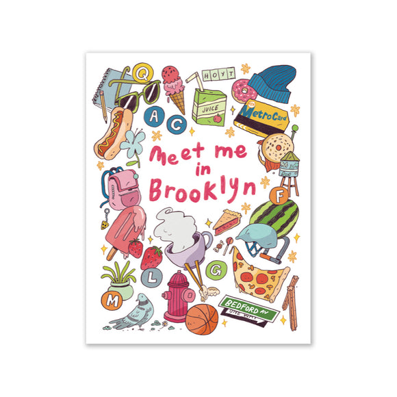 "GMBK Greeting Card - ""Meet Me in Brooklyn"" By Natalie Andrewson - MeMe Antenna"