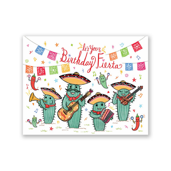 "GMBK Greeting Card - ""Birthday Fiesta"" By Bite n' Kiss - MeMe Antenna"