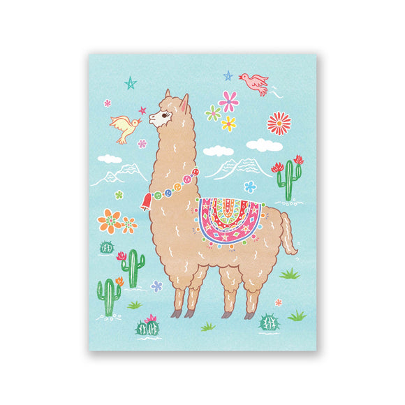 "GMBK Greeting Card - ""Llama"" By Bite n' Kiss - MeMe Antenna"