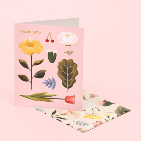 Greeting Card: Thank You - Pastel Blossoms (Boxed set of 8) - MeMe Antenna