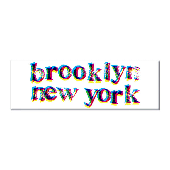 Magnet - Brooklyn New York 3D (White) - MeMe Antenna