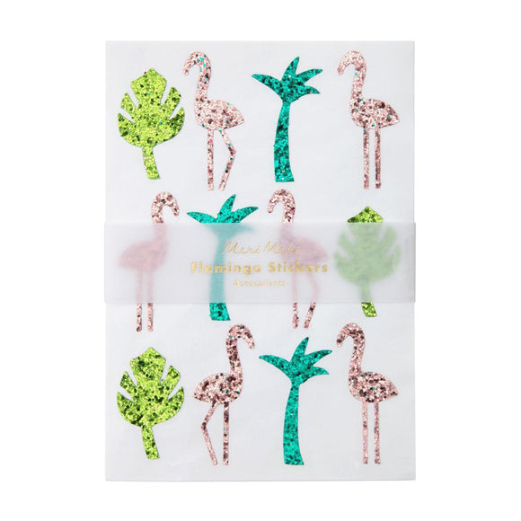 Glitter Stickers : Flamingo (pack of 10 sheets) - MeMe Antenna