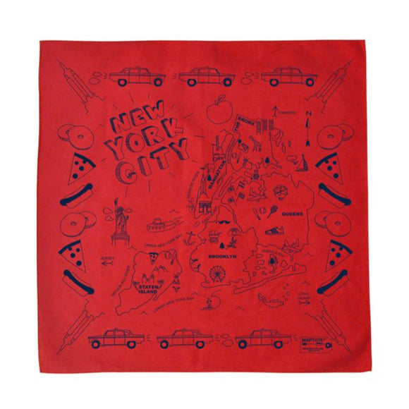 Bandana - New York City - Red - MeMe Antenna