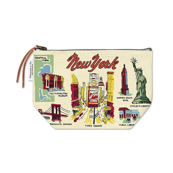 Zipped Pouch : Cavallini - Vintage NYC Icons - MeMe Antenna
