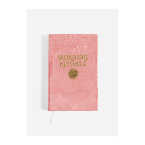 Journal - Morning Rituals - Velvet Mindfulness Journal - Coral - MeMe Antenna