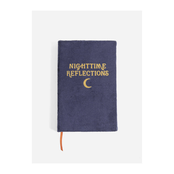 Journal - Nighttime Reflections - Velvet Mindfulness Journal - Navy - MeMe Antenna