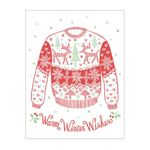 Holiday Greeting Card Set - Holiday Sweater Boxed Set (6) - MeMe Antenna