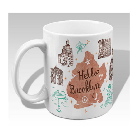 MeMe Antenna Mug - Hello Brooklyn Bridge By Bite n' Kiss - MeMe Antenna