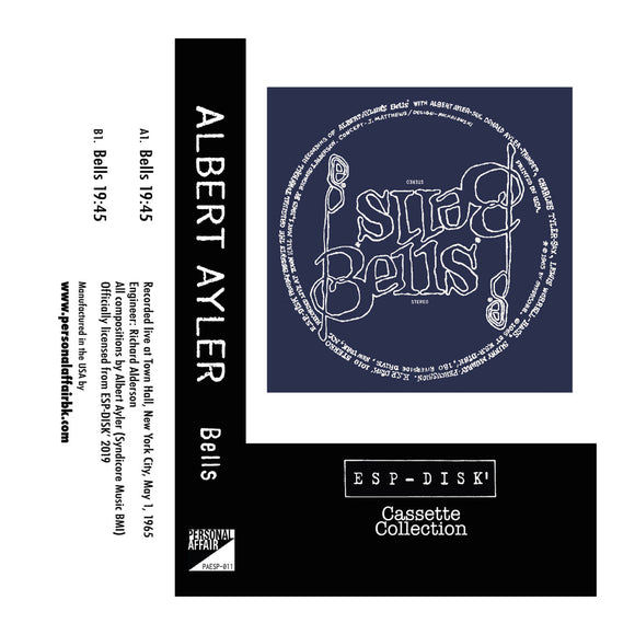 Cassette Collection ESP-Disk' - Albert Ayler: Bells - MeMe Antenna