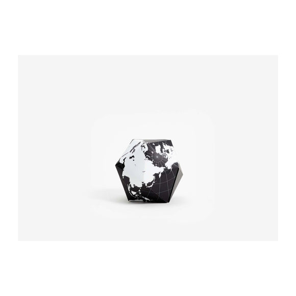 Dymaxion Folding Globe - Black / White - MeMe Antenna