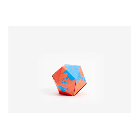 Dymaxion Folding Globe - Blue / Orange - MeMe Antenna