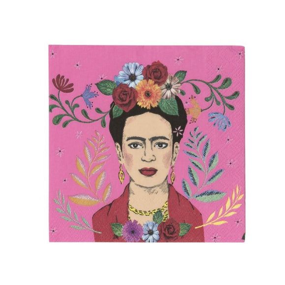 Boho Frida Cocktail Napkin 20 pieces - MeMe Antenna