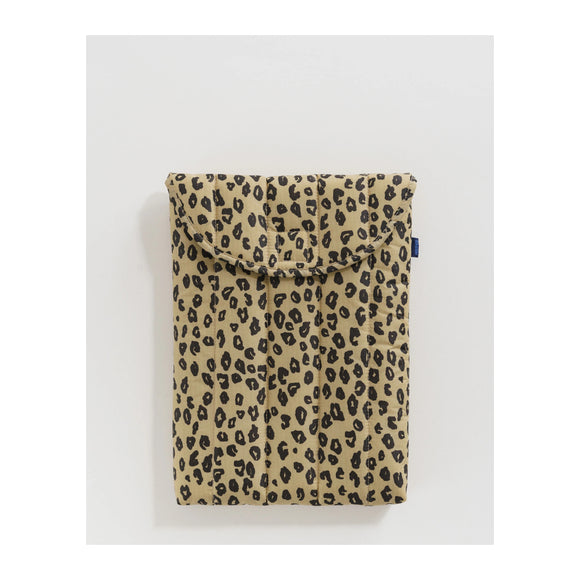 "BAGGU - Puffy Laptop Sleeve 13"" (Honey Leopard) - MeMe Antenna"