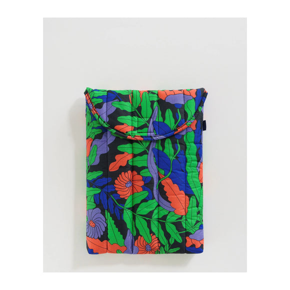 "BAGGU - Puffy Laptop Sleeve 13"" (Midnight Fern) - MeMe Antenna"