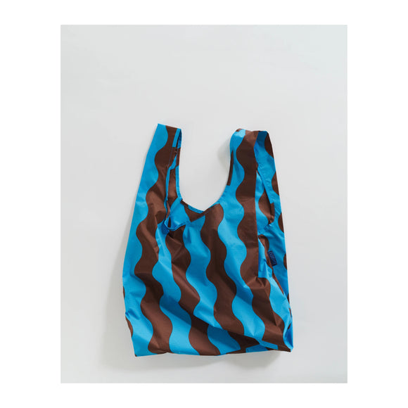 BAGGU - Standard Baggu (Teal and Brown Wavy Stripe) - MeMe Antenna