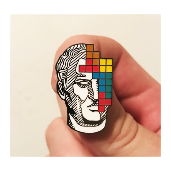 Enamel Pin : Strike Gently - Blocks - MeMe Antenna