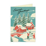 Holiday Greeting Card Set - Winter Wonderland - MeMe Antenna