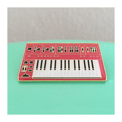 Enamel Pin : Charming Afternoon - Synth Keyboard - 3rd Edition (Red) - MeMe Antenna