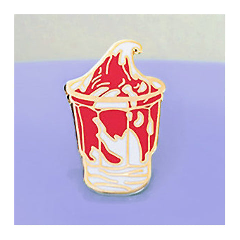 Enamel Pin : Charming Afternoon - Sundae Strawberry - MeMe Antenna